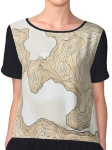maps from a inexistent world  Chiffon Top