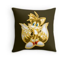 Neon Miles Tails Prower Throw Pillow