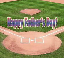 Happy Father's Day Baseball by Susan S. Kline