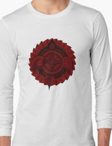 Eclipse. Red. Long Sleeve T-Shirt