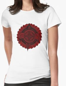 Eclipse. Red. Womens Fitted T-Shirt