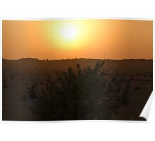 Dubai Desert Sunset - 1 Poster