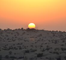 Dubai Desert Sunset - 2 by adamg17