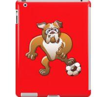 Bulldog Preparing to Kick a Soccer Ball iPad Case/Skin