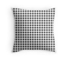 Black and White Zoom Kaleidoscope Throw Pillow 02 Throw Pillow