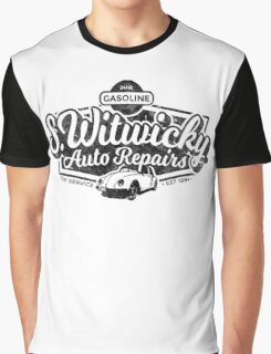 Witwicky's Auto Garage (black design) Graphic T-Shirt