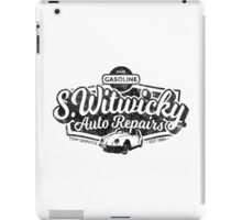Witwicky's Auto Garage (black design) iPad Case/Skin