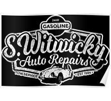 Witwicky's Auto Garage (white design) Poster