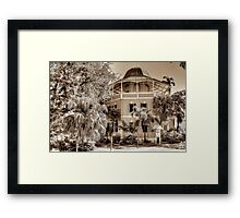 Public Library on Shirley Street in Nassau, The Bahamas Framed Print