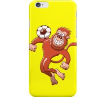 Monkey Trapping a Soccer Ball with its Chest iPhone Case/Skin