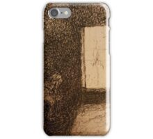 Alone in a dark room iPhone Case/Skin
