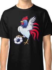 Rooster Posing and Stepping on a Soccer Ball Classic T-Shirt