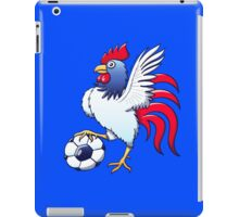 Rooster Posing and Stepping on a Soccer Ball iPad Case/Skin
