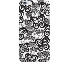Scattered Swirl Black Butterflies  iPhone Case/Skin