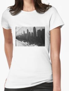 City skyline Womens Fitted T-Shirt