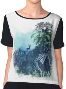 spirits of the forest Women's Chiffon Top
