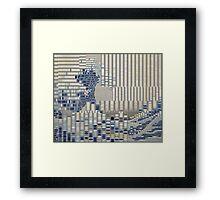 Data Tidal Wave Generative Algorithmic Art Framed Print