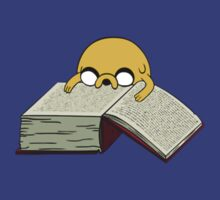 Jake Reading ADVENTURE TIME (Shirts and Stickers) by StillFly