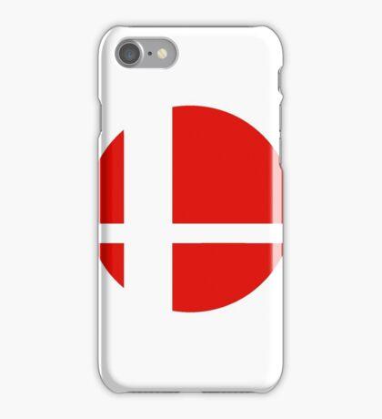 Super Smash Bros red logo iPhone Case/Skin