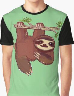 Adorable Sloth Graphic T-Shirt
