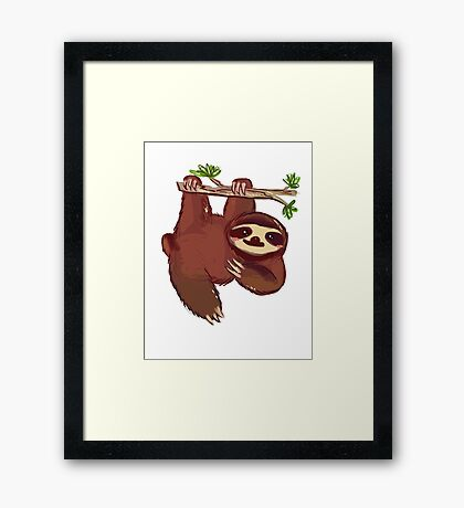 Adorable Sloth Framed Print
