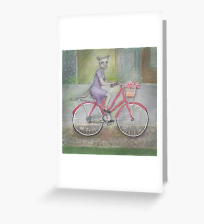 Felicity riding her bike Greeting Card