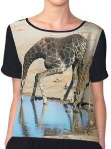 Giraffes by the water Chiffon Top