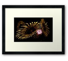 Abstract Fireworks Framed Print