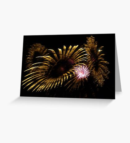 Abstract Fireworks Greeting Card
