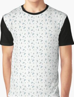 Blue Triangles Patterns Graphic T-Shirt