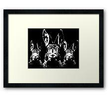 Rune Rabbits Framed Print