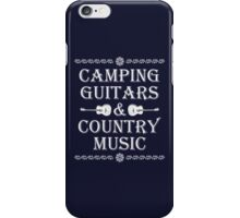 Camping Guitars Country iPhone Case/Skin