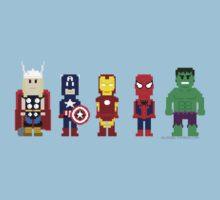 8-Bit Super Heroes! Kids Clothes