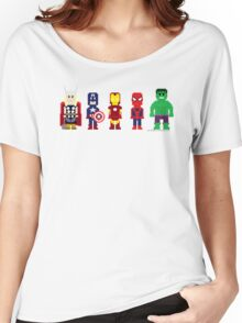 8-Bit Super Heroes! Women's Relaxed Fit T-Shirt