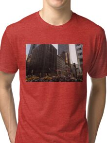 Christmas Shopping on Fifth Avenue, Manhattan, New York City Tri-blend T-Shirt