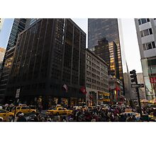 Christmas Shopping on Fifth Avenue, Manhattan, New York City Photographic Print