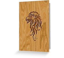 Eagle Head ~ Wood Carved Greeting Card