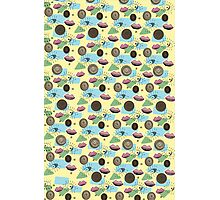 Vintage 50's Inspired Eyes Lips Pastel Pattern Photographic Print