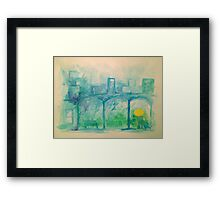 Catching the Train from Farhampton Framed Print