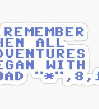 C64 Retro Sticker