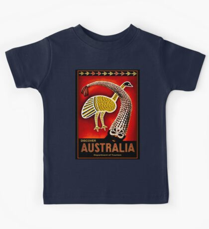 """AUSTRALIA"" Vintage Art Travel Advertising Print Kids Tee"