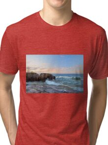 Rolling Waves On Superior Tri-blend T-Shirt