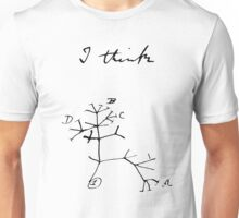 Darwin - Tree of Life - I Think Unisex T-Shirt