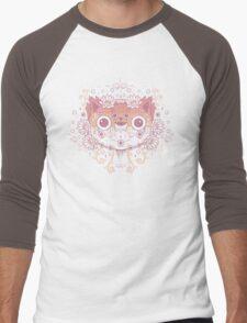 Cat flower Men's Baseball ¾ T-Shirt