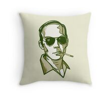 Hunter S. Thompson green pillow Throw Pillow