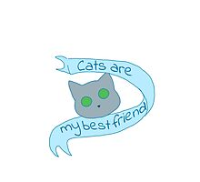 Cats are my best friends Photographic Print