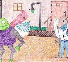 Frog, Bird, Mole by SteveHanna