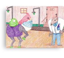 Frog, Bird, Mole Canvas Print