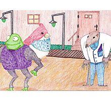 Frog, Bird, Mole Photographic Print