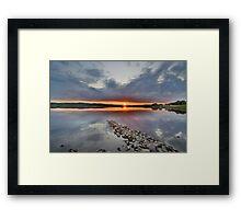 Dumfires & Galloway: Sunset at Loch Ken Framed Print